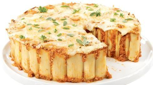 rigatonis pâtes fromage gratin