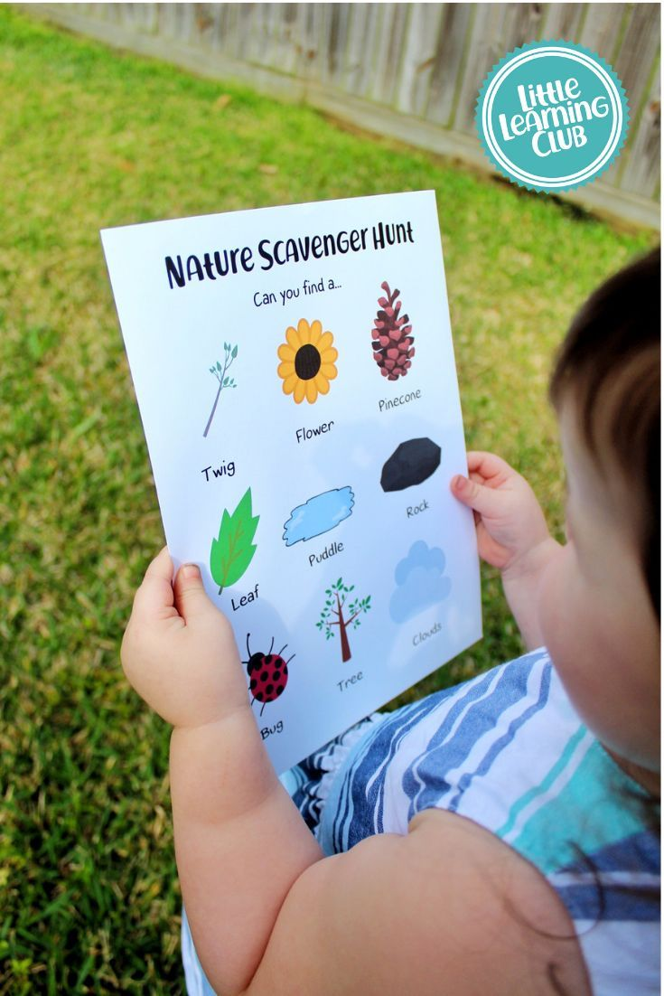 Spring Time Activities for Toddlers from Little Learning Club. Toddler scavenger hunt free printable activity for kids.