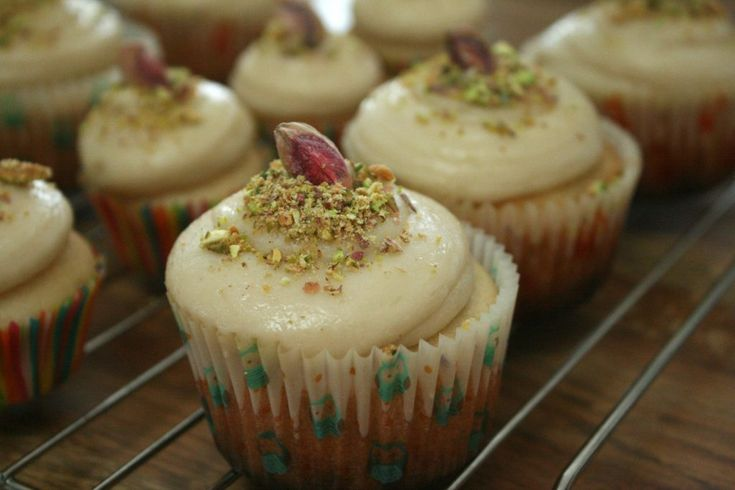 Rosewater Cupcakes with Halva Buttercream (Vegan with a Gluten-Free Option)