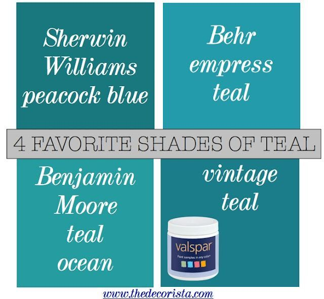 The Decorista-Domestic Bliss: FAVORITE SHADES OF TEAL | Turquoise paint colors