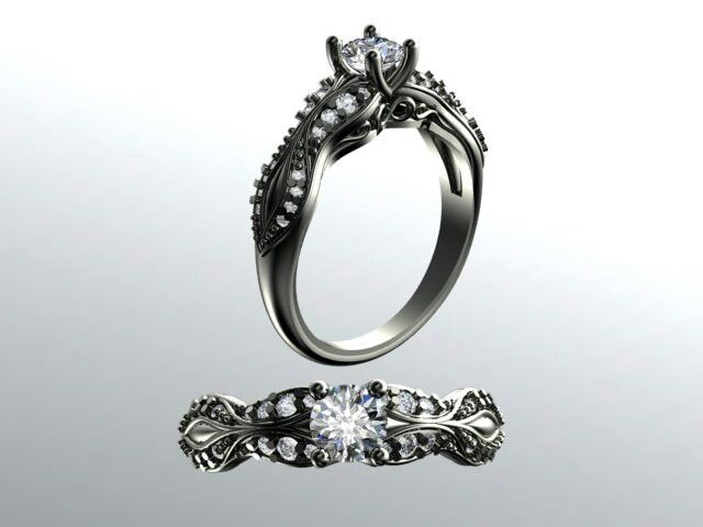 Custom made engagement ring in 9ct