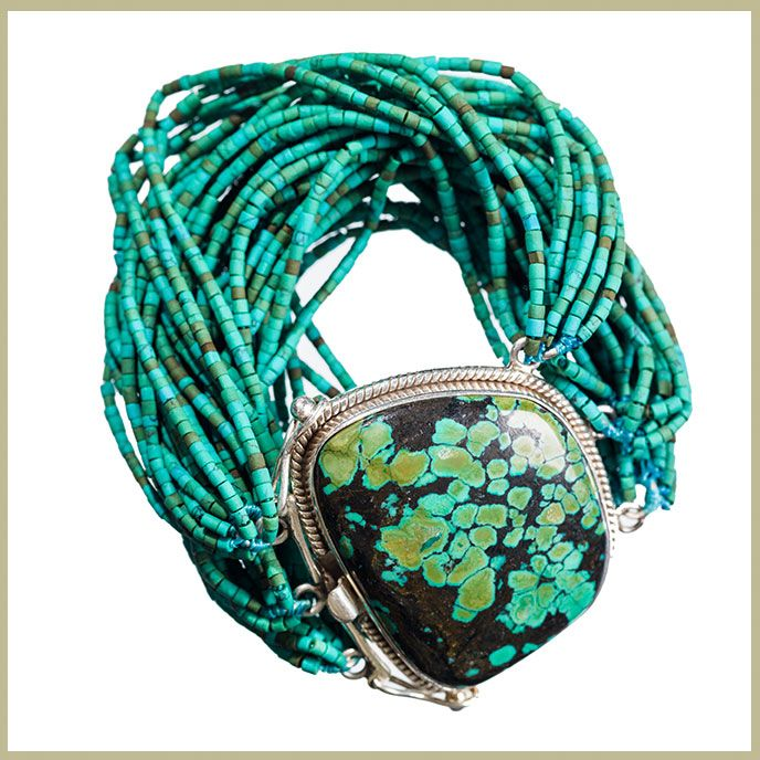 Heishi Cut Turquoise Bracelet   Jet Couture Jewels