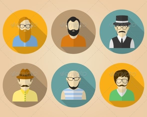 Set of Male Avatars for Social Networks   http://graphicriver.net/item/set-of-male-avatars-for-social-networks/8177780?ref=damiamio       S