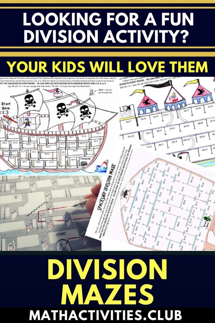 Division Activity Division Maze Bundle 10 Pack This Fun Packed Bundle Includes Ten Div Division Activities Maths Activities Middle School Math Activities [ 1102 x 735 Pixel ]
