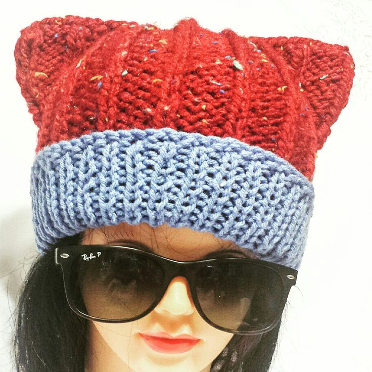 New cat style chunky hat finished. Almost ready to list in my shop.