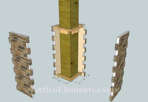 How to Make Stone Columns | Installation Instructions For Alpi Post Wraps