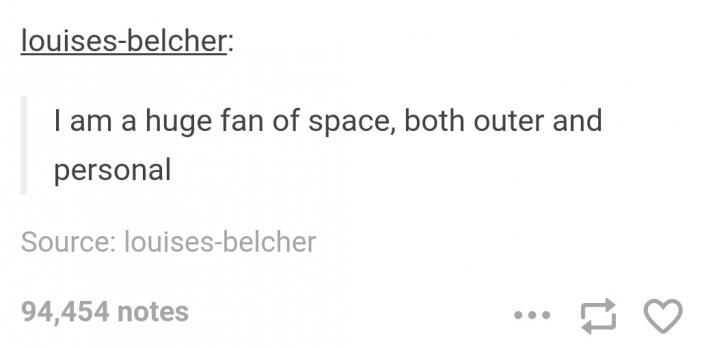 Huge fan of space