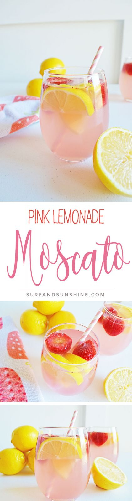 The Perfect Cocktail #Recipe to Ring in the #NewYear - Pink Lemonade Moscato via @Jeanabeena