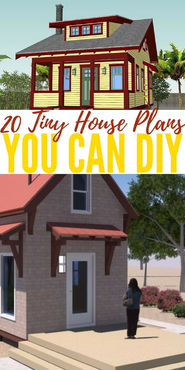 20 Tiny House Plans You Can DIY — If you're interested in building your own tiny house or just want to see how they look like, check out this collection of 20 tiny house plans and ideas that are small and beautiful.