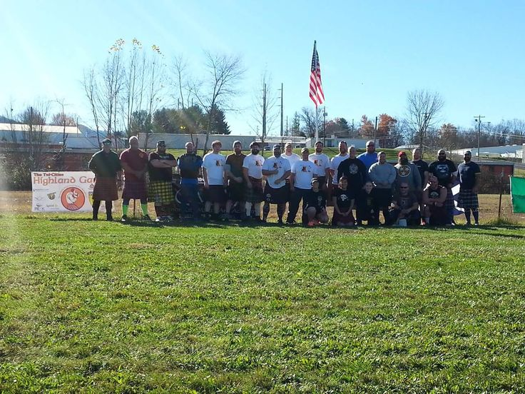 Closing ceremonies of the First Annual Tri-Cities Highland Games November 2015 — with Daniel Chaney, Michael Nease, Chad Clark, Brenden Bohannon, Justin Harris, Damien Rhodes, Josh Sharp, Jason Woods, Jeremy Wallace, Jeremy Robinson, Mark Lincoln Rice and Jonathan Ward.