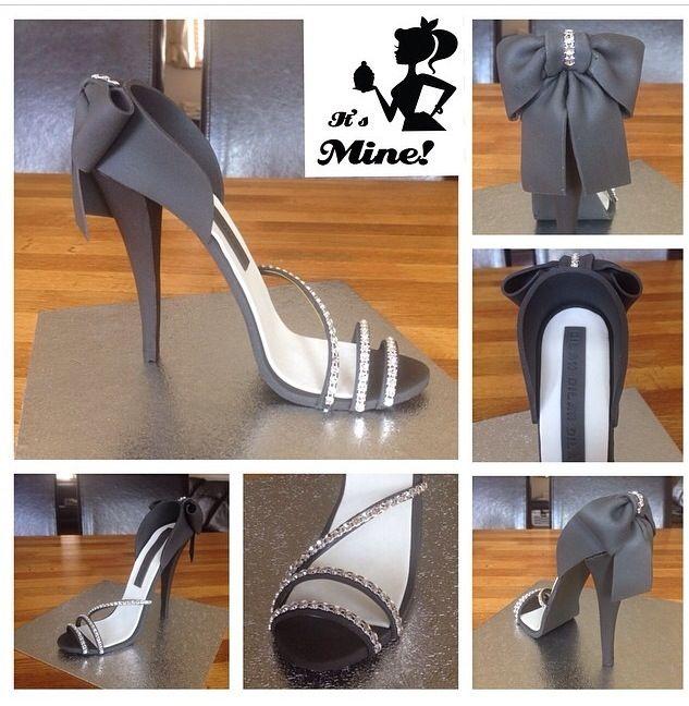 High heel fondant shoe