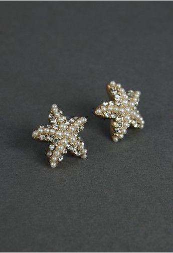 starfish studs.