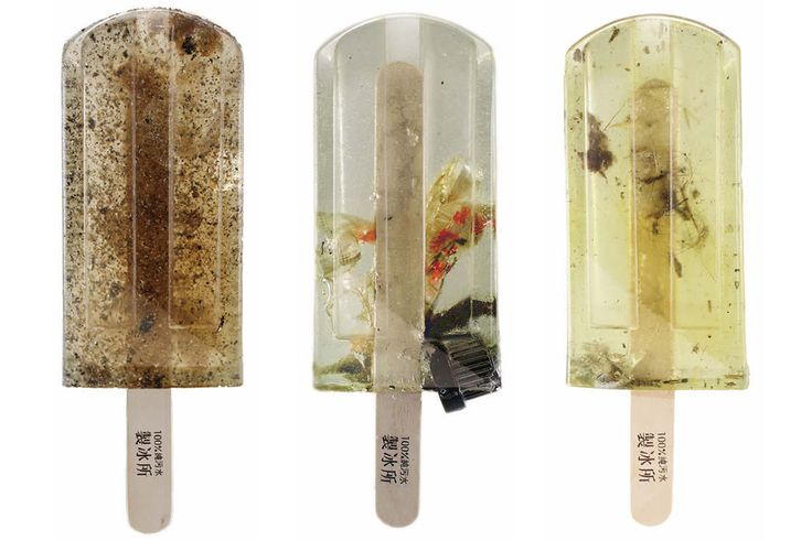 Polluted Water Popsicles: Faux Frozen Treats Highlight Taiwan's Water Pollution Problem | Colossal