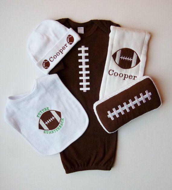 Football Baby Boy Coming Home Outfit Football by mamabijou