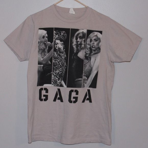 "Lady Gaga ""Monster Ball"" T-Shirt This t-shirt was sold on Lady Gaga's ""Monster Ball"" tour in 2010/2011. I only wore it a few times and it is in great condition! More Lady Gaga merchandise on it's way... Tops Tees - Short Sleeve"