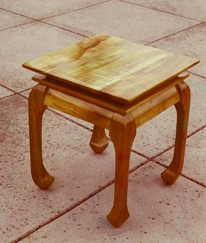 Barry Williamson   Wood   Chow End Table
