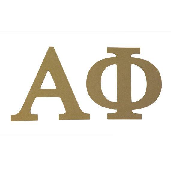 Alpha Phi Sorority 7.5 Unfinished Wood Letter Set A Phi