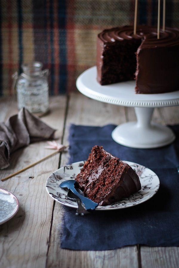 Chocolate carrot cake, delicious!! www.foodandcook.net