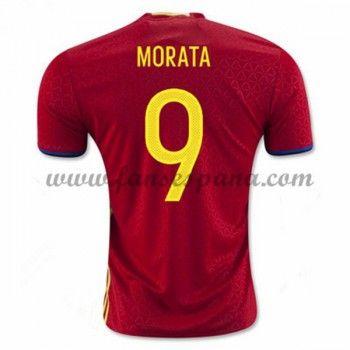 Camisetas De Futbol Barata España 2016 Morata 9 Primera Equipación