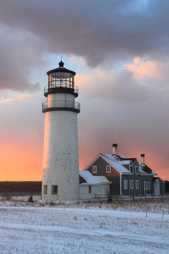 Highland Lighthouse – Cape Cod This is where we got married... its amazing to think of all the years I've lived right down the street from it, and I've never seen it covered with snow!