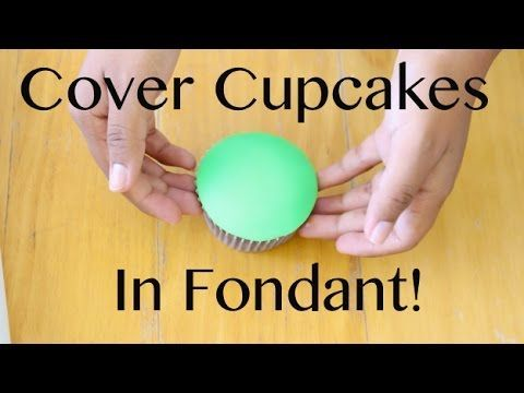 How to Cover a Cupcake with Fondant! - YouTube