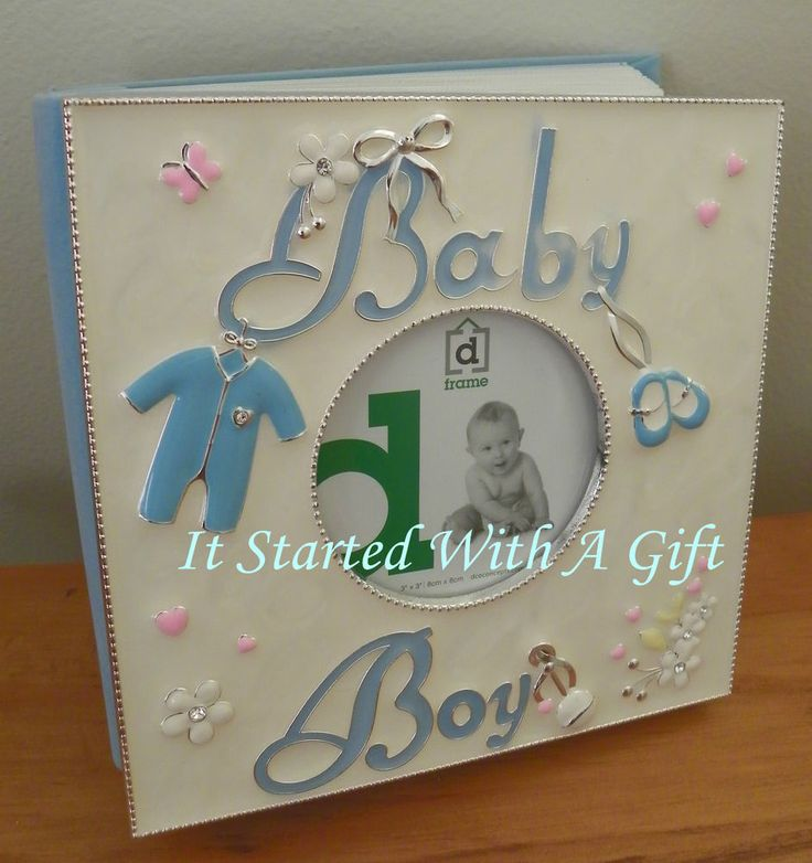 Lux Blue Baby Album 80 4X6 photos