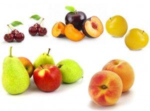 La manzana, pera, ciruela, cereza y duraznos (melocotón, nectarina, albaricoque, etc) son las frutas con mayor contenido en fructosa y sorbitol. Los zumos de estas frutas también deben limitarse en los pacientes con esta intolerancia.