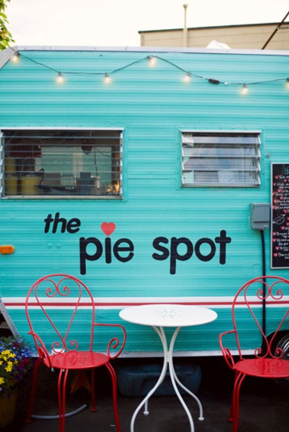 The Pie Spot - Portland, Oregon. Portland has wonderful food carts throughout the City.