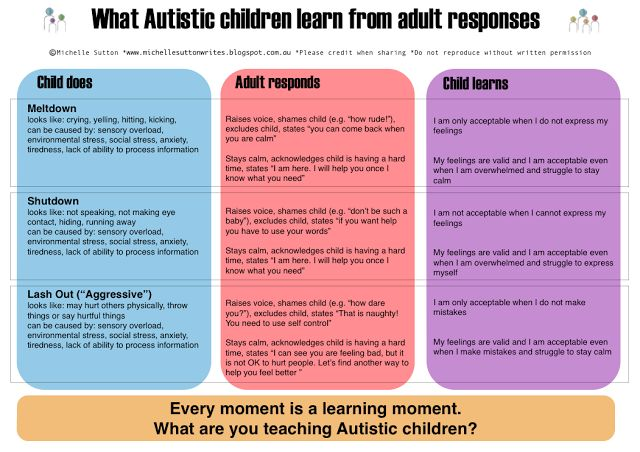 Amazing Adventures: What Autistic children learn from adult responses