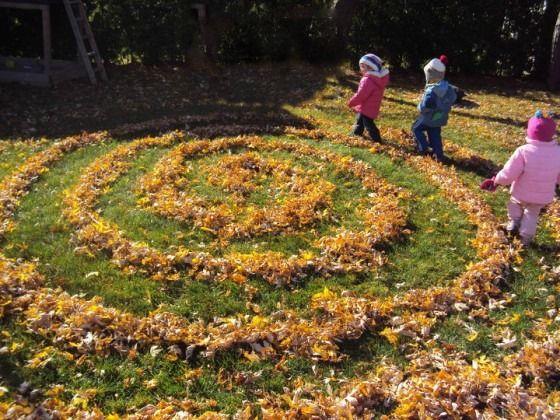 leaf maze & labyrinth - happy hooligans