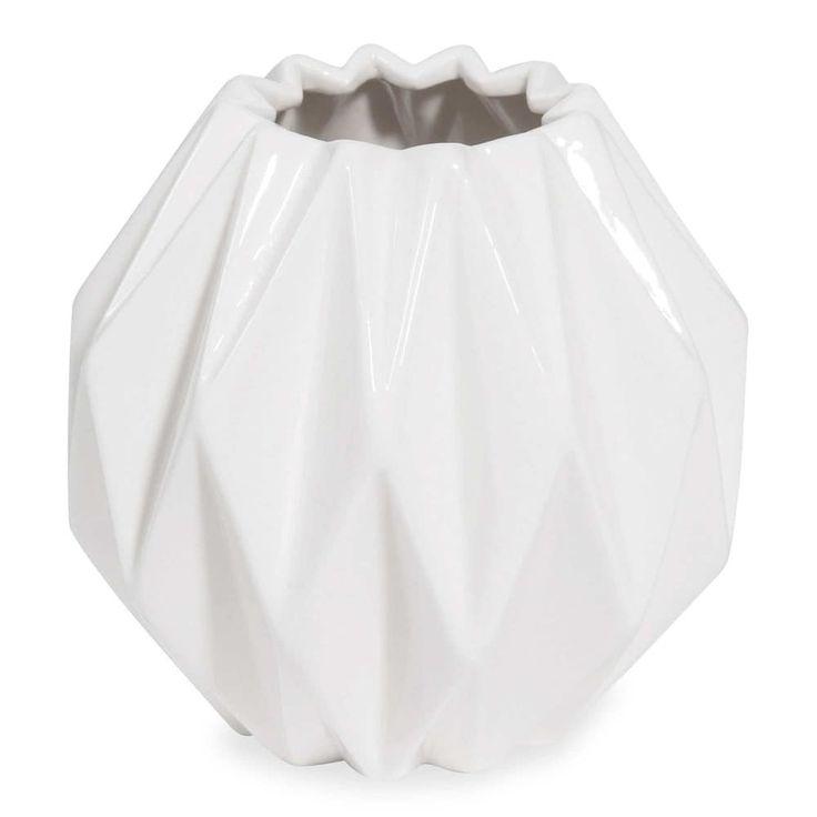 Witte porseleinen vaas MALMO, hoogte ...
