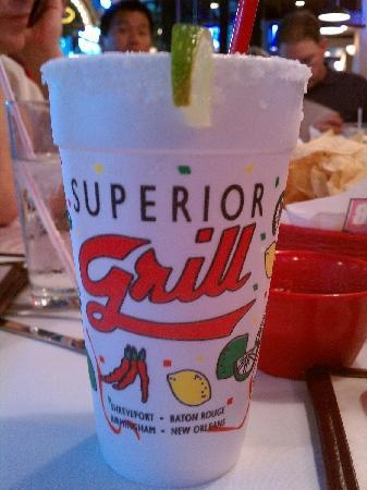 Superior Grill Margarita Recipe    Ingredients:    1.5 liters of Tequila  1 liter of triple sec  2 cups of sugar  1 quarts of lime juice  1.5 liters frozen Margarita mix    Directions:  Mix ingredients and enjoy!