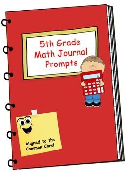Fifth Grade Math Journal Containing 4 different prompts for each of the third grade math common core standards. This math journal is so much more than a collection of word problems. The journal prompts included ask students to defend their answers, using the MESS method (Model, Equation, Solve, Sentence).