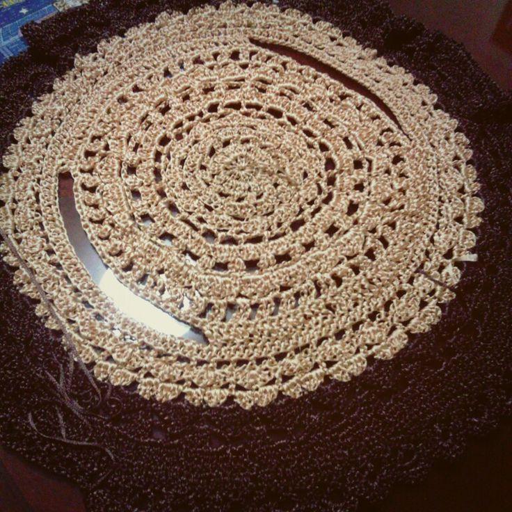 Chaleco circular tejido con cintilla