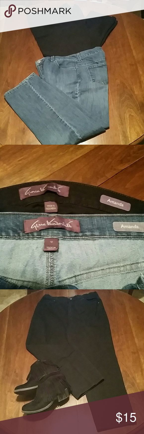 Amanda Jeans Each pair of jeans has a little spandex in them for a little stretch, which makes them just that much more comfortable! Gloria Vanderbilt Jeans Straight Leg