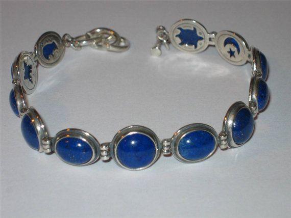 Lapis Reversible Bracelet New Navajo Carolyn Pollack Vintage Sterling Silver 925 Denim Blue Lazuli Stone Relios Roderick Tenorio Jewelry Etsy Ebay