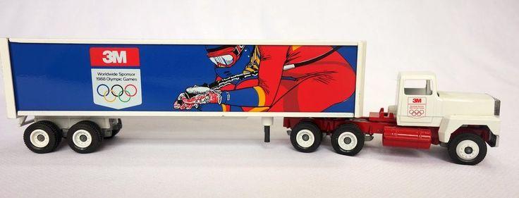 Winross 3M Semi Truck Diecast 1:64 Long-Nose Cab Sponsor 1988 Olympic Games #Winross #3m