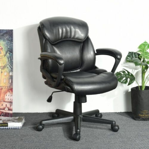 Executive Swivel Faux Pu Leather Office Chair Ebay Com Executive Office Chairs Office Chair Leather Office Chair