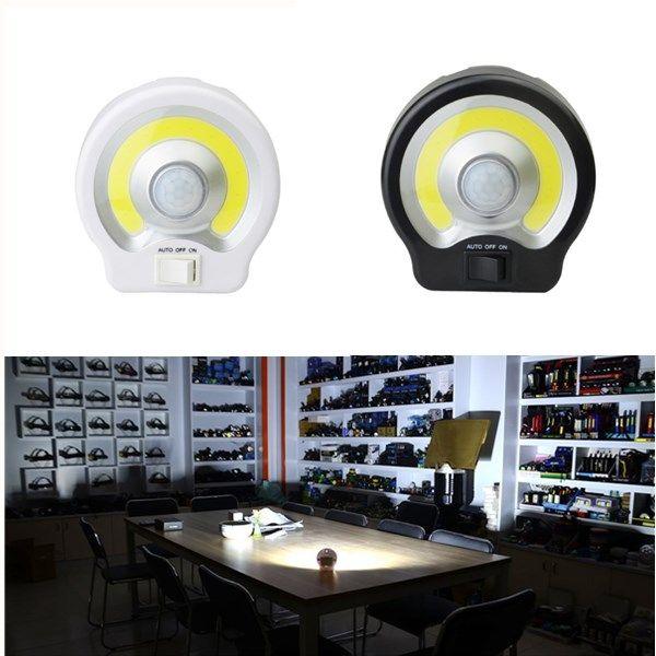 Pir Motion Sensor Induction Led Night Light Cob Magnet Flashlight Work Lamp For Path Bedroom Kitchen Led Night Light Work Lamp Motion Sensor