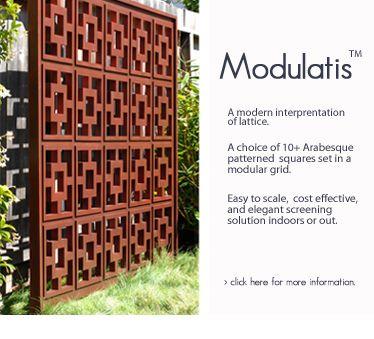 Fences, arbors, screens, room dividers, lattice, etc.