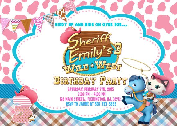 36 best Invitaciones de Sheriff Callie images on Pinterest