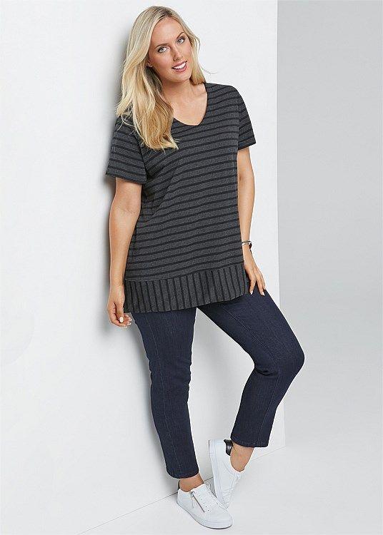 Stripe Me Top #takingshape #plussize #curvy