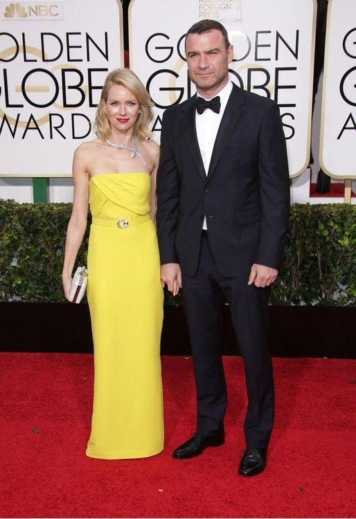 Złote Globy 2015: Naomi Watts i Liev Schreiber, fot. East News