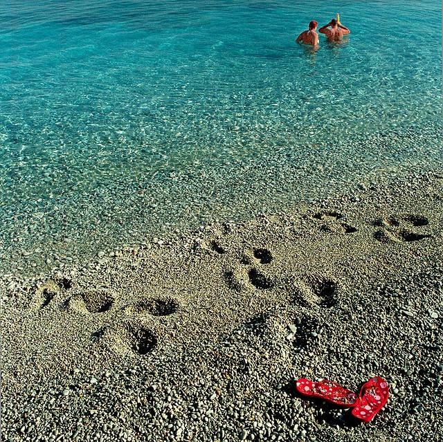 Beach at Skiathos, Greece by Michael-D, via Flickr