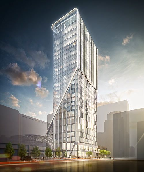 Proposed Hotel Alessandra, Dallas and Fannin Streets, GreenStreet, Downtown Houston