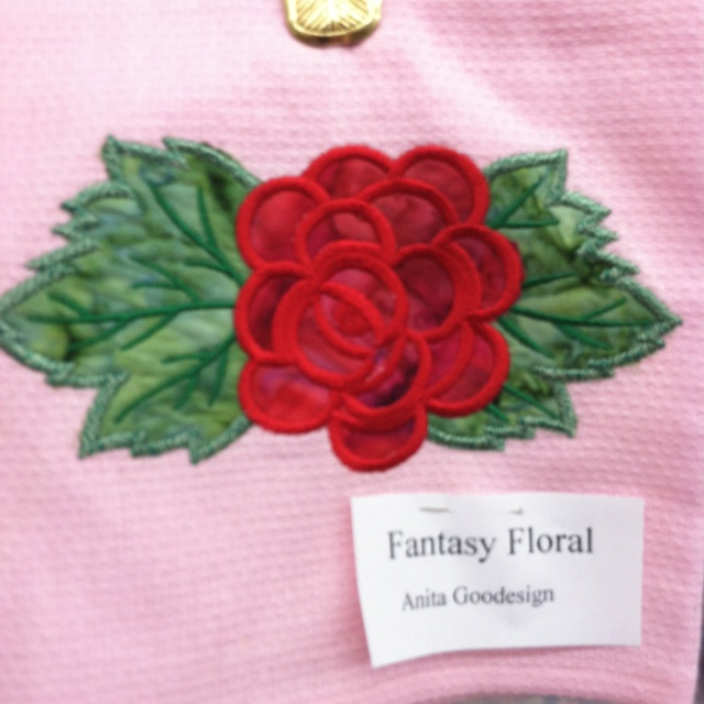 "Fantasy Florals Anita Goodesign embroidery designs.   ""The Rose""."