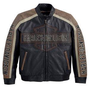 Harley Davidson Men's Distinction Black Leather Jacket New RARE L XL 2XL 3XL | eBay