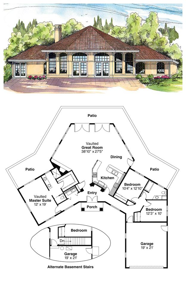 16 best octagon style house plans images on pinterest for Cool floor plans