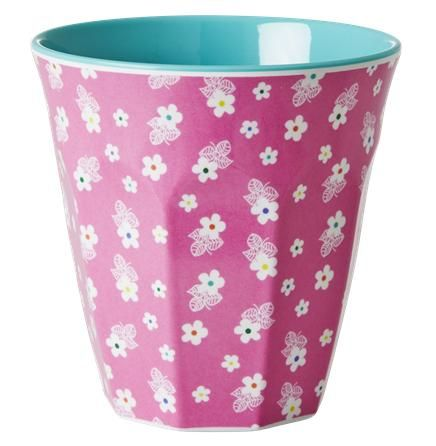 Melamine cup - Pink Mini Flower Print Retro Baby Clothes - Baby Boy clothes - Danish Baby Clothes - Smafolk - Toddler clothing - Baby Clothing - Baby clothes Online