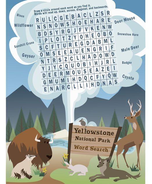 Yellowstone kids activities